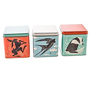 john hanna country fair aufbewahrungsdosen design mit hase dachs und schwalbe. Black Bedroom Furniture Sets. Home Design Ideas