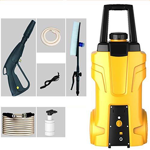 FENG Strahlrohr Hochdruckpistole, 120 bar Hochdruckreiniger (12 V-Motor, 7 m Hochdruckschlauch), Blau, Gelb,Yellow