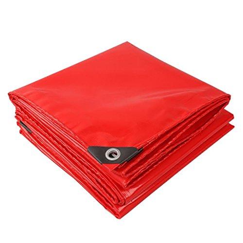 Outdoor supplies Verdickte im Freien verdickte Tuchverschlüsselung des Schirmtextilverschleißes der hohen Stärke Drahtschneider-Planendicke 0.45mm verschiedene Größen (Farbe : Rot, größe : 4M*6M)