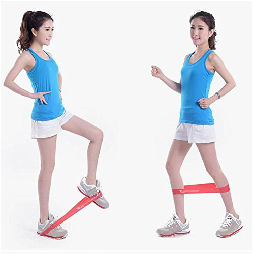 Therapie Flache Bänder (Premium-Widerstandsbänder aus Latex, Schlaufenbänder, geeignet für Fitnessstudio, Zuhause, Yoga, mit Aufbewahrungstasche, kurzes Widerstandstraining, auch für die Beine)