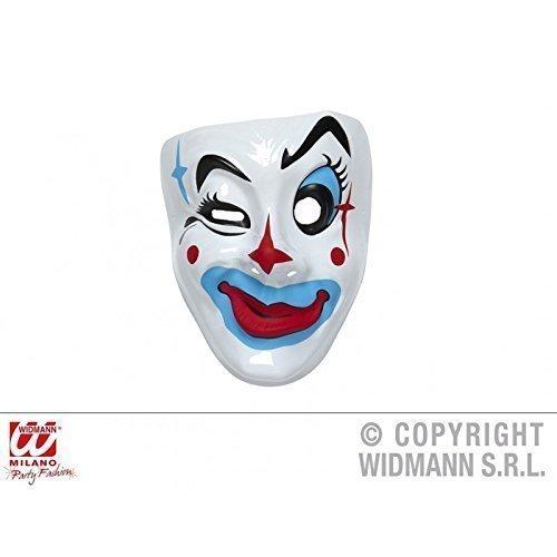 Lively Moments Einfache Gesichtsmaske Clown Maske großer Blauer ()