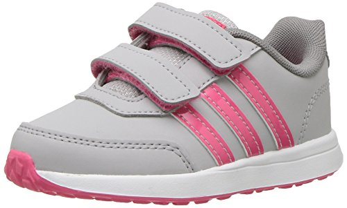 adidas Kids' VS Switch 2 Sneaker, Grey Two Fabric, Real Pink s, Grey Three Fabric, 7.5K M US Toddler (Toddler Adidas Sneaker)