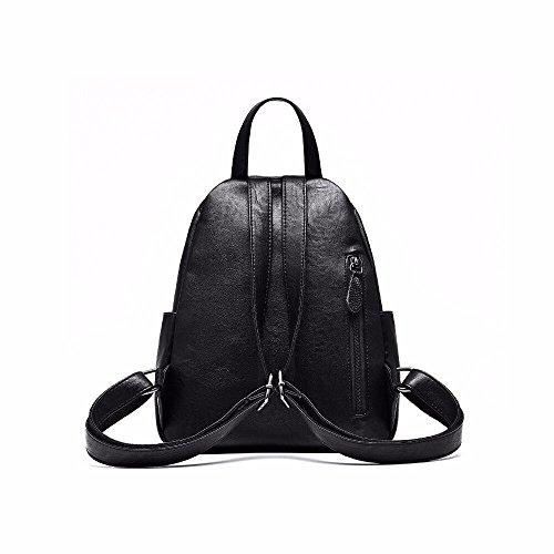 das neue leder brust kleinen rucksack, tasche, meine damen.,schwarz khaki.