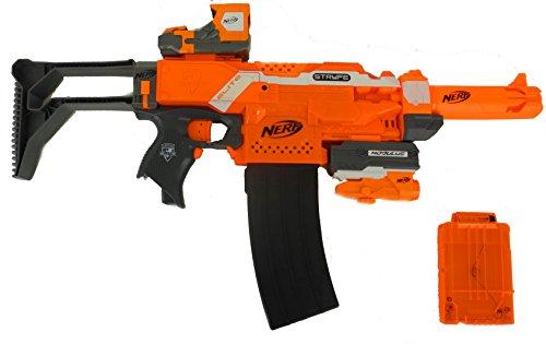 Preisvergleich Produktbild Nerf N-Strike Elite XD Stryfe - Super Pack - Riesiges Stryfe Bundle aus Originalzubehörteilen von Nerf und Blasterparts