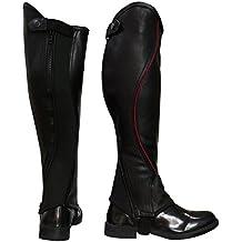 Riders Trend 10067190Super Grip 2tonos naturales piel grano polaina, Unisex, 10067190 Leather Gaiter, negro y granate, 40  x 49.5 cm