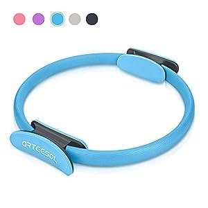 arteesol Pilates Ring, Doppelgriff Yoga Exercise Ringe 15 Zoll / 38cm Dual Grip Magic Übungskreis für Fettverbrennung in Schwarz Lila Blau Rosa Farbe