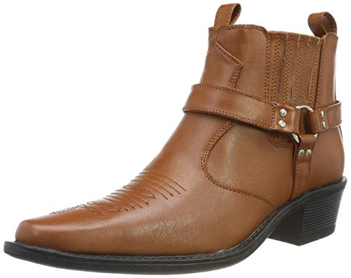 MENS US BRASS DARK BROWN ANKLE HARNESS BOOTS SIZE UK6 - 12 EASTWOOD M183DB KD-Brown-UK 12 (EU 46) Harness Boot
