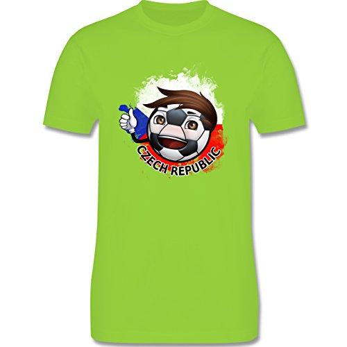 EM 2016 - Frankreich - Fußballjunge Tschechien - Herren Premium T-Shirt Hellgrün
