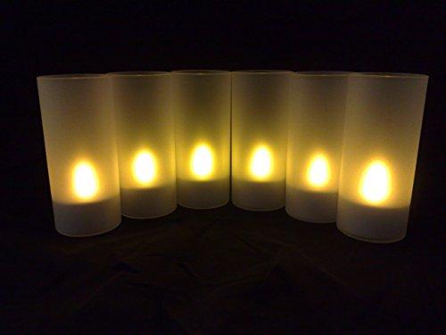 zen' Light SCL01vela LED con Portavelas/función souffler amarillo