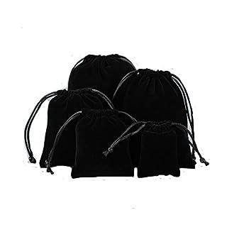 Alamor 10Pcs Black Velvet Bag Schmuck Tasche Geschenk Tasche Hochzeit Event 9 * 11 cm