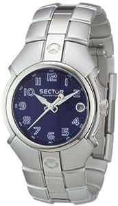 Sector - R3253195035 - Alu 195 - Montre Femme - Quartz Analogique - Dateur - Bracelet Aluminimum - Cadran Bleu