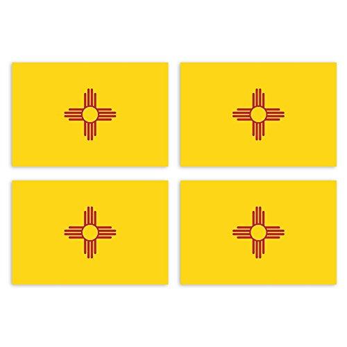 Albuquerque New Mexico (KIWISTAR Aufkleber 4,5 x 3 cm New Mexico Albuquerque - Bundesstaat Autoaufkleber USA Flagge Länder Wappen Fahne Sticker Kennzeichen)