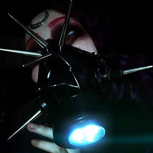 MB-Müller 87339-005-000 - Máscara de gas con pinchos XL y luz LED, unisex, color negro
