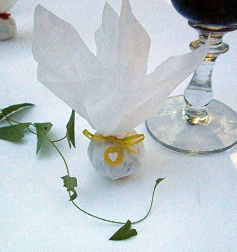 Die Seedball-Manufaktur Sonne Seedball Gastgeschenk mit Herz Weißes Seidenpapier mit gelber Bastschleife 2,5 x 2,5 x 6 cm (Bezahlung Für Artikel In Den Warenkorb)