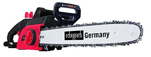 """Scheppach Elektro Kettensäge CSE2400 (2400 Watt, 460 mm Schnittlänge, 18"""" Qualitätsschwert, Rückschlag- und Handschutz mit Systembremse, Motorsäge mit automatischer Kettenspannung/schmierung)"""