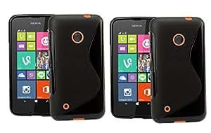 Nokia Lumia 530 Set of 2 S Line Soft Gel TPU Anti-skid Back Case Cover