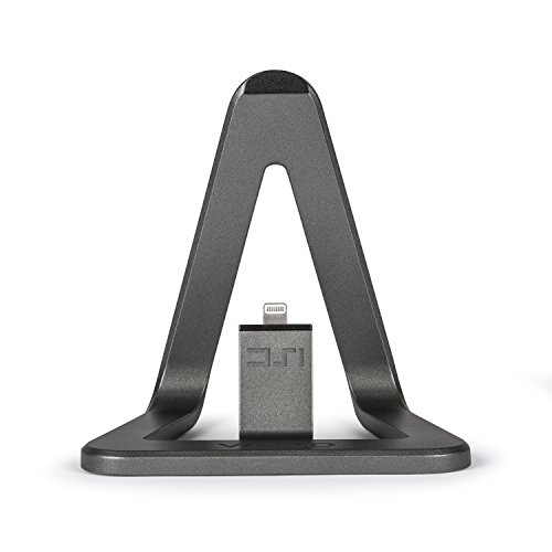 Veho VPP-801-MFI DS-1 Desktop Dockingstation für Apple iPhone/iPod mit 1,5m MFi Lightning Kabel Aluminium grau