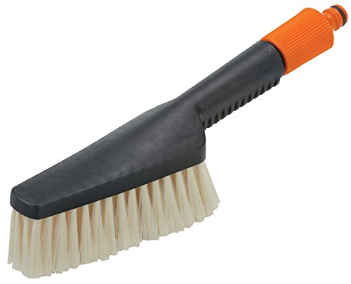 GARDENA Handwaschbürste, klein: Schmaler Handschrubber für schwer zugängliche Stellen, für empfindliche Oberflächen, stufenlose Regulierung (987-20) (Kleine Gartenschlauch)