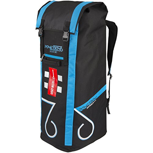 Gray-Nicolls Herren powerbow6Academy Duffle Bag, schwarz/blau/Silber, ONE Size