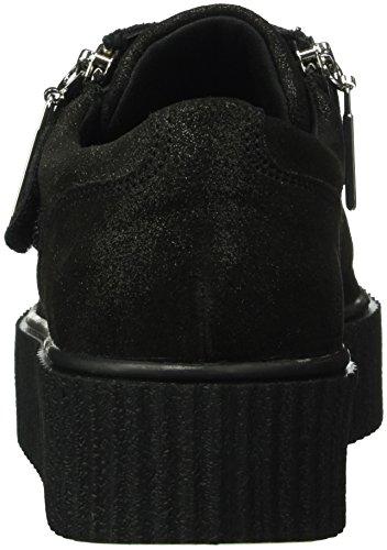 Fornarina Tina, Baskets Basses Femme Noir - Schwarz (0000)