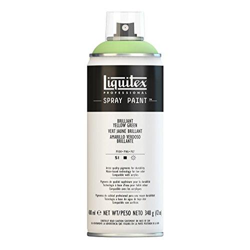 Liquitex Professional Spray Paint - Acrylfarbe, Farbspray auf Wasserbasis, lichtecht, 400 ml - Gelb - Grün brillant