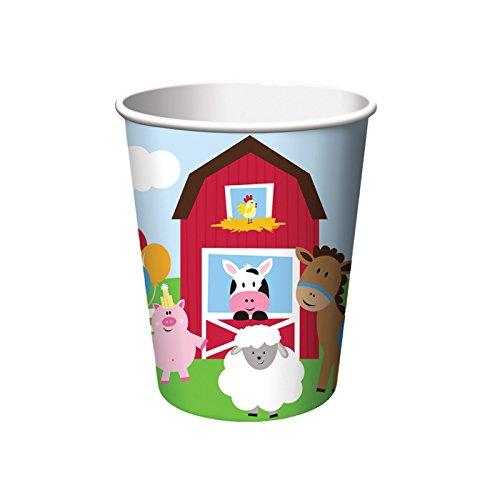Baby Becher Kostüm - PARTY DISCOUNT NEU Becher Farm Babys, 256 ml, 8 Stück