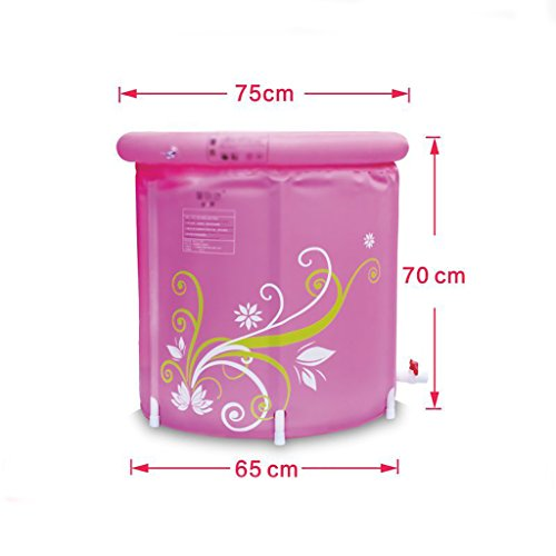 Yugang aufblasbare wanne Aufblasbare Badewanne Erwachsenen Portable Faltbare PVC Spawanne mit Luftpumpe Badesets für unterwegs faltbar Badewanne für Babys (größe : 65 * 70cm)