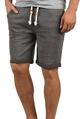 Redefined Rebel Memphis Herren Sweatshorts Kurze Hose Jogginghose Aus 100% Baumwolle Mit Kordel Regular Fit, Größe:XXL, Farbe:Antracit Grey