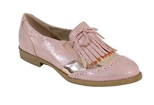 By Shoes - Damen Schnürhalbschuhe Pink