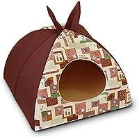 QJKai Artículos para mascotas perrera lienzo yurta arena para gatos mascota nido