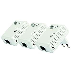 Allnet ALL168205NANO-3 HomePlug AV Powerline Adapter (200Mbps, 3-er Pack)