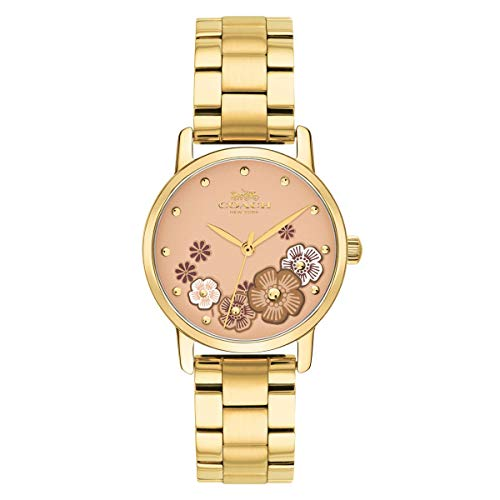 Business 14503056 Multicolored Dial Women's Analog Coach Quartz Coach Grand