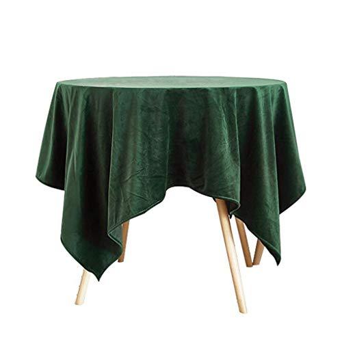 Zzaini vintage velluto tovaglie, colore puro oblungo rettangolo tovaglie agriturismo soft panno della tabella morsetto soldi per feste di matrimonio vacanza cena-a 140cmx140cm