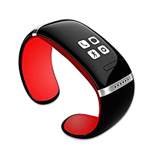 Bluetooth Intelligente braccialetto Orologio Da Polso/ Bluetooth Smart Wristband Bracelet Watch Per IOS Android Samsung iPhone HTC (Red)