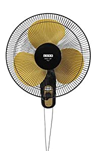 Usha Mist Air Icy 400mm Wall Fan (Black & Yellow Och)