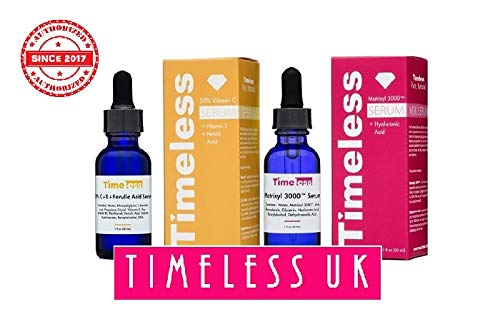 Timeless Skin Care 20% Vitamin C+E Ferulic Acid & Matrixyl 3000 w/Hyaluronic Acid Set - 1 of Each Frm Timeless UK© the Primary Authorised distributor in UK & Europe! Fresh Stock Guaranteed!