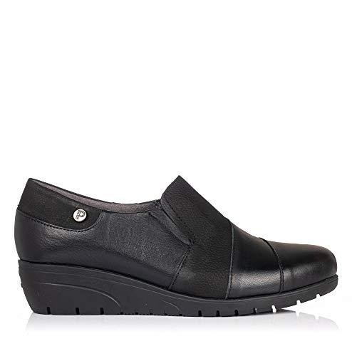 PITILLOS 2990 Zapato Combi Piel CUÑA Mujer Negro 36