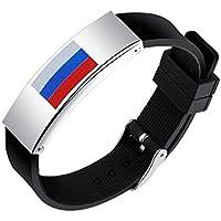 Shedeu drapeaux Coupe du monde de football ventilateurs mains Bracelets Coupe du monde de football Drapeau national Bracelet en silicone pour homme en alliage Bracelet Russie