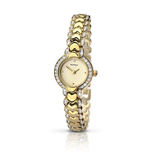 Sekonda 2061pour femme Plaqué or Gem Ensemble de montre à quartz Elmer électrostatiques