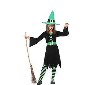 Atosa-55589 Disfraz Bruja para Niña Infantil Color verde 10 a 12 años (55589