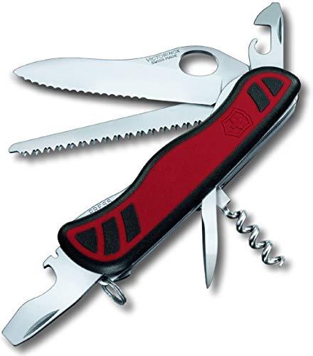 Victorinox Taschenmesser Forester M Grip (10 Funktionen, Hervorragender Griff, Holzsäge, Lebenslange Garantie) rot/schwarz
