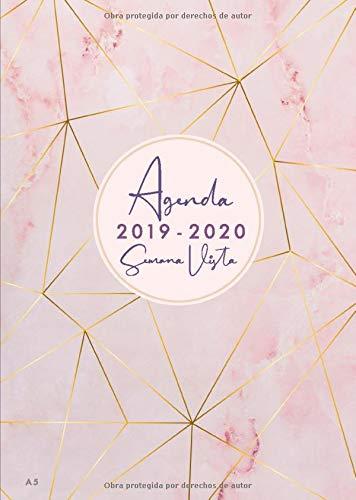 Calendario Mr Wonderful Julio 2019.Agenda 2019 2020 Semana Vista A5 Agenda Y Cuaderno 18 Meses Julio 2019 Diciembre 2020 Diseno De Marmol Rosa Color Rosa Y Oro Rosa