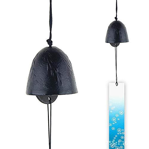 Xiaolulu Garden Windspiel Im Freien Antikes Gusseisen Windspiel 2er Set Retro Hangende Glocke Japanischer Stil Garten Hangende Dekoration Windspiel