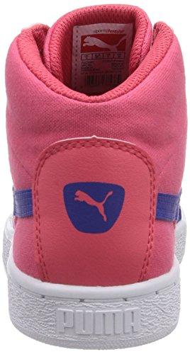 Puma Puma '48 Mid Canvas Jr, Baskets hautes mixte enfant Rouge - Rot (geranium-clematis blue 03)