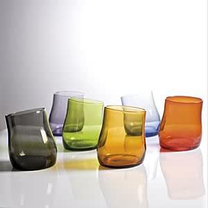 Fade Set 6 Bicchieri Colorati Collezione Bent Acqua 300 ml Colori assorti