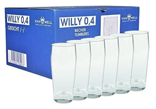 6er Set Bierglas Willibecher 0,4l geeicht