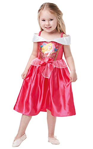 Kleinkind Disney Kostüm Aurora - Rubie's Offizielles Disney Prinzessin Pailletten Schlafende Schönheit, klassisches Kostüm, Kinder Kleinkinder, Größe Alter 2-3 Jahre, Höhe 98 cm