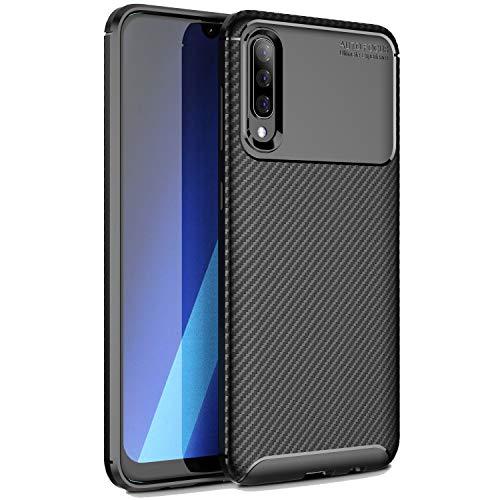 MYLBOO para la funda A50 de Samsung Galaxy, funda blanda a prueba de golpes suave con funda de TPU de silicona suave protectora Funda Premium Slim Fit para Samsung Galaxy A50-Negro