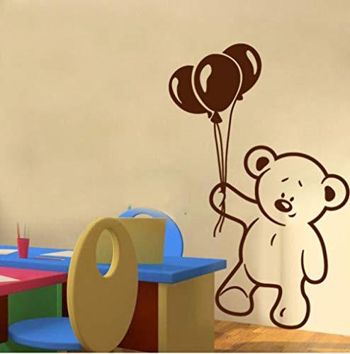 Bär Und Ballon Entfernbare Wandaufkleber Für Kinderzimmer Kinderzimmer Wandtattoo Kinder Party Dekoration Farbe Größe Kann Angepasst Werden ()