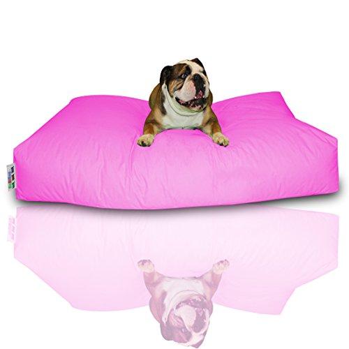 Bild: Hundekissen BuBiBag Größe 100x60x10 cm aus wasserdichtem Polyester Stoff in 23 verschiedenen Farben zur Auswahl pink